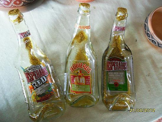 bouteilles fondues à 800°