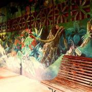 le mur à  l'entrée du musée.