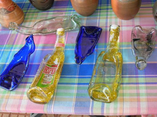 bouteilles fondues
