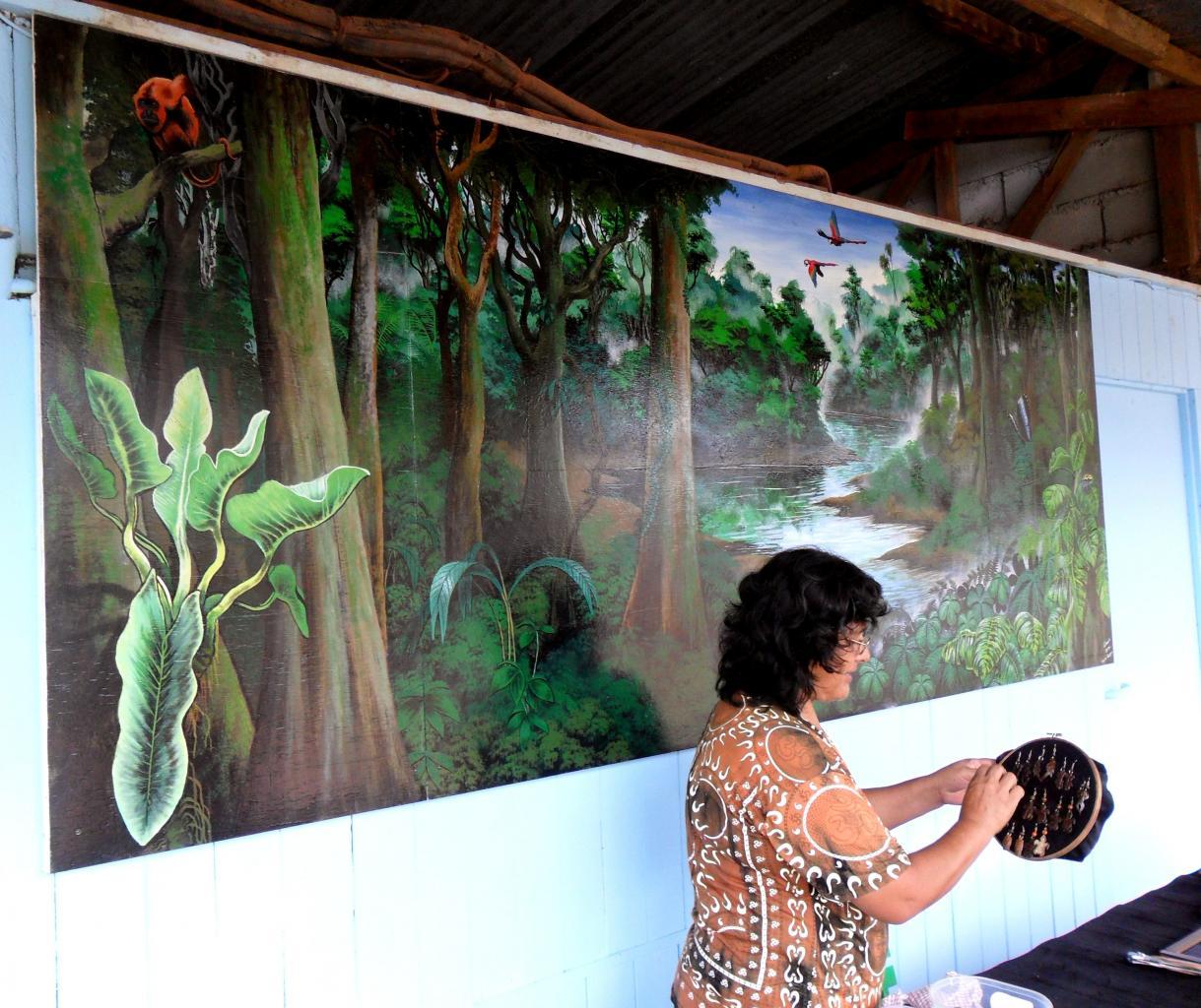 fresque au marché de cacao